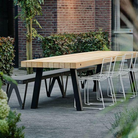 Modern Outdoor dining table and chairs