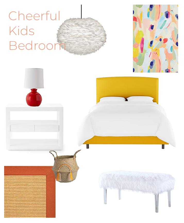 Cheerful Kids bedroom get the look