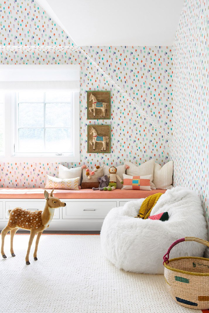 Cheerful kids bedroom wallpaper