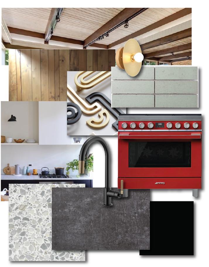 Buckhead kitchen design board mid century modern renovation