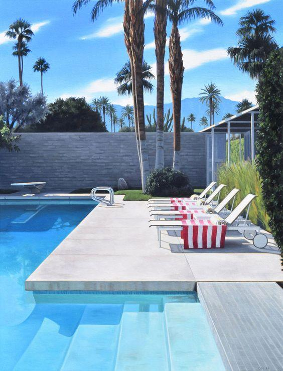 atomic ranch mid century palm springs swimming pool