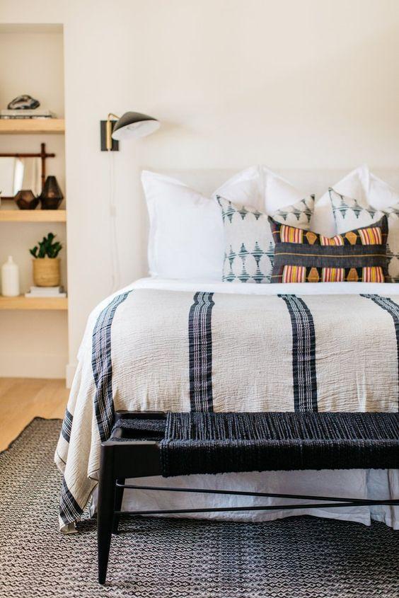 Bedside sconce, bedroom, master bedroom