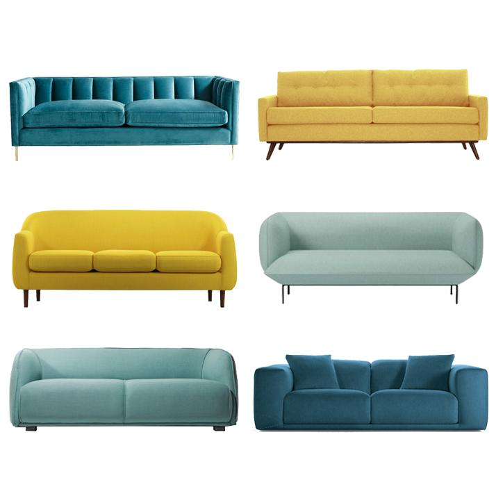 colorful modern sofas