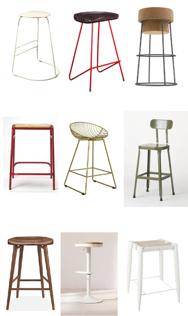 counter height bar stools roundup by Nest Studio