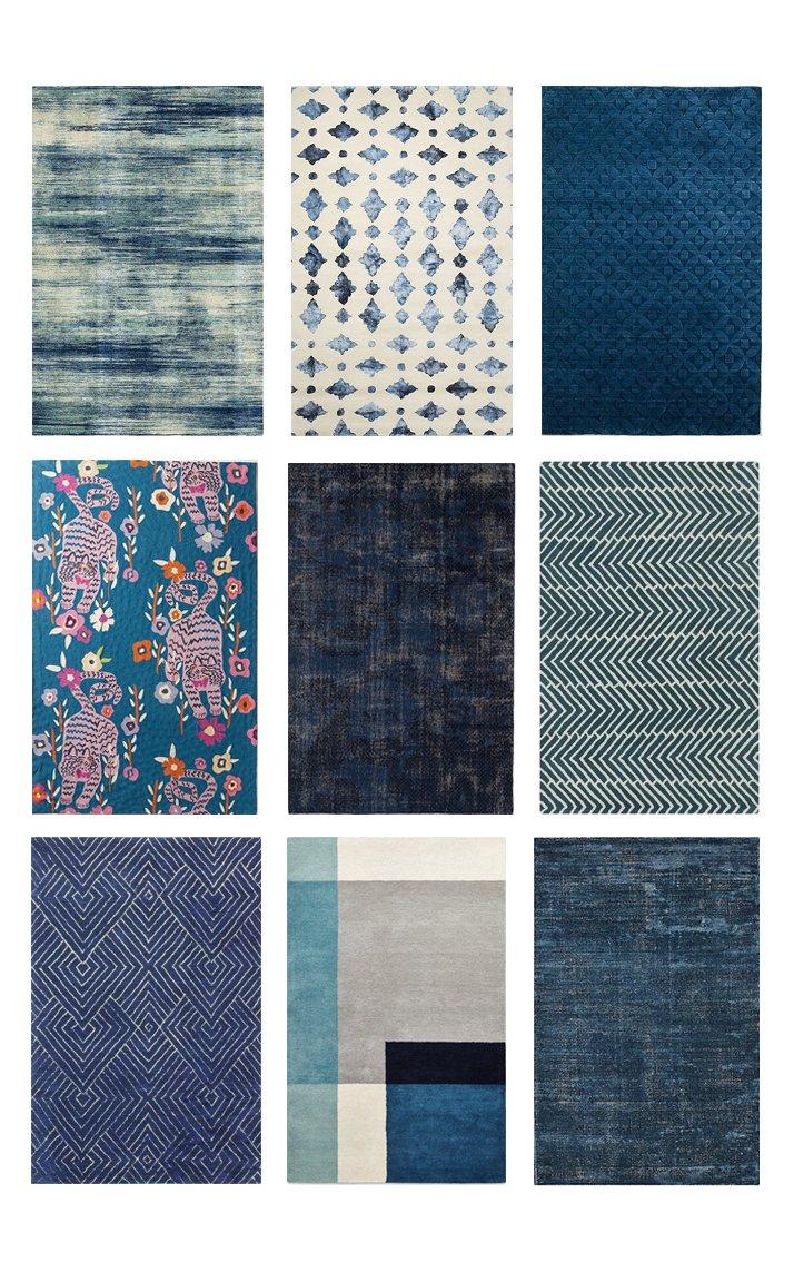 dark blue living room rugs