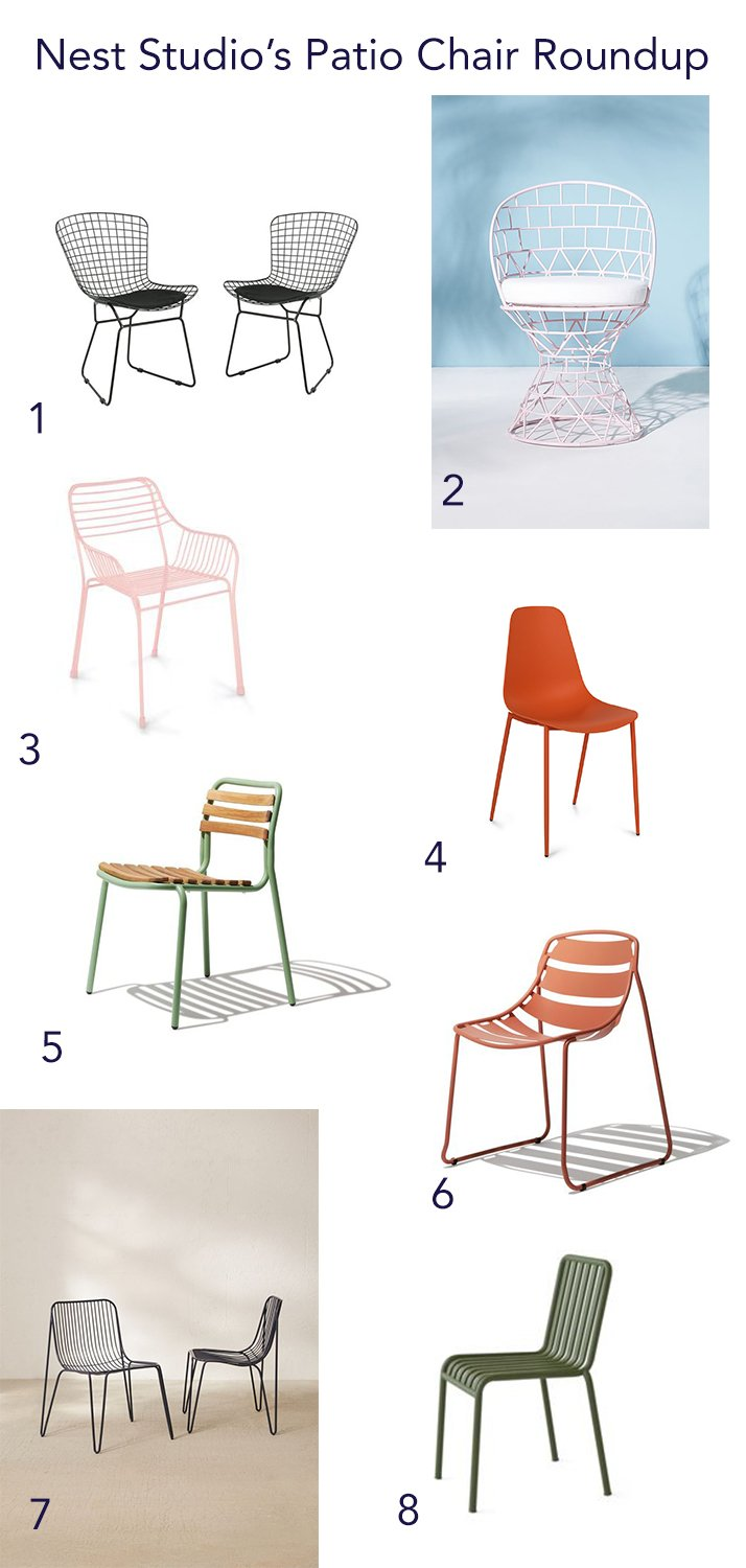 Modern inexpensive outdoor dining chair roundup