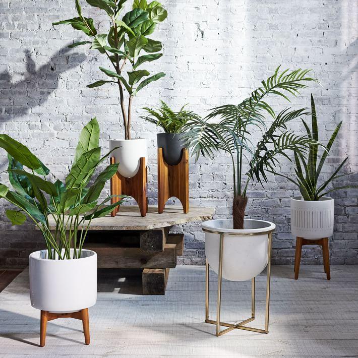 west elm modern planters